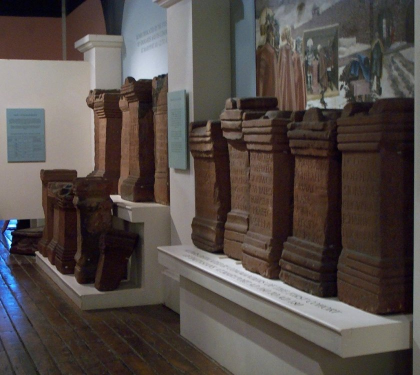 A corner in the museum where some of the altars are displayed