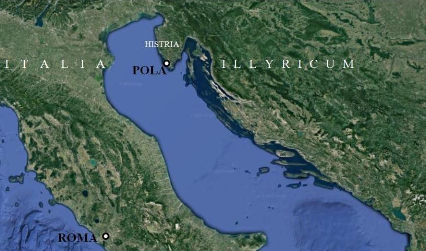 The Roman colony of Iulia Pola Pollentia Herculanea present-day Pula-Pola Croatia