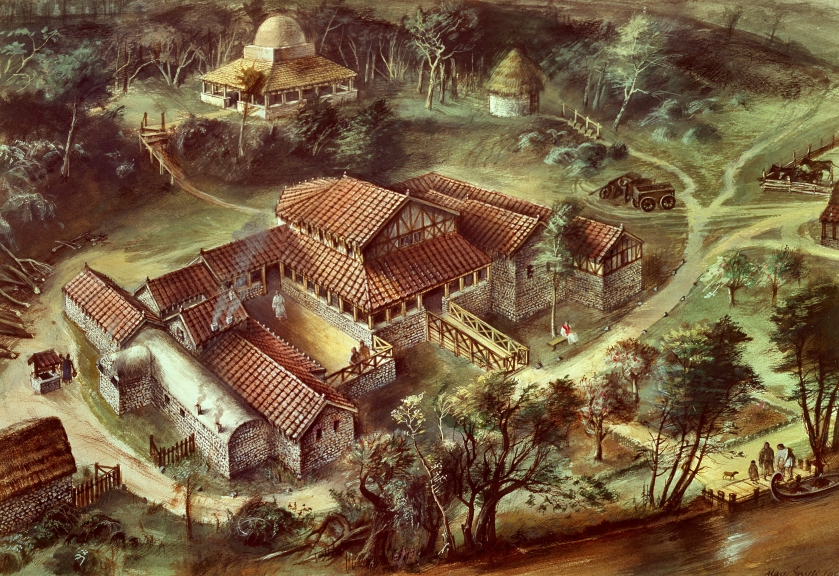 08 Reconstruction drawing of Lullingstone Villa in the fourth century AD.jpg