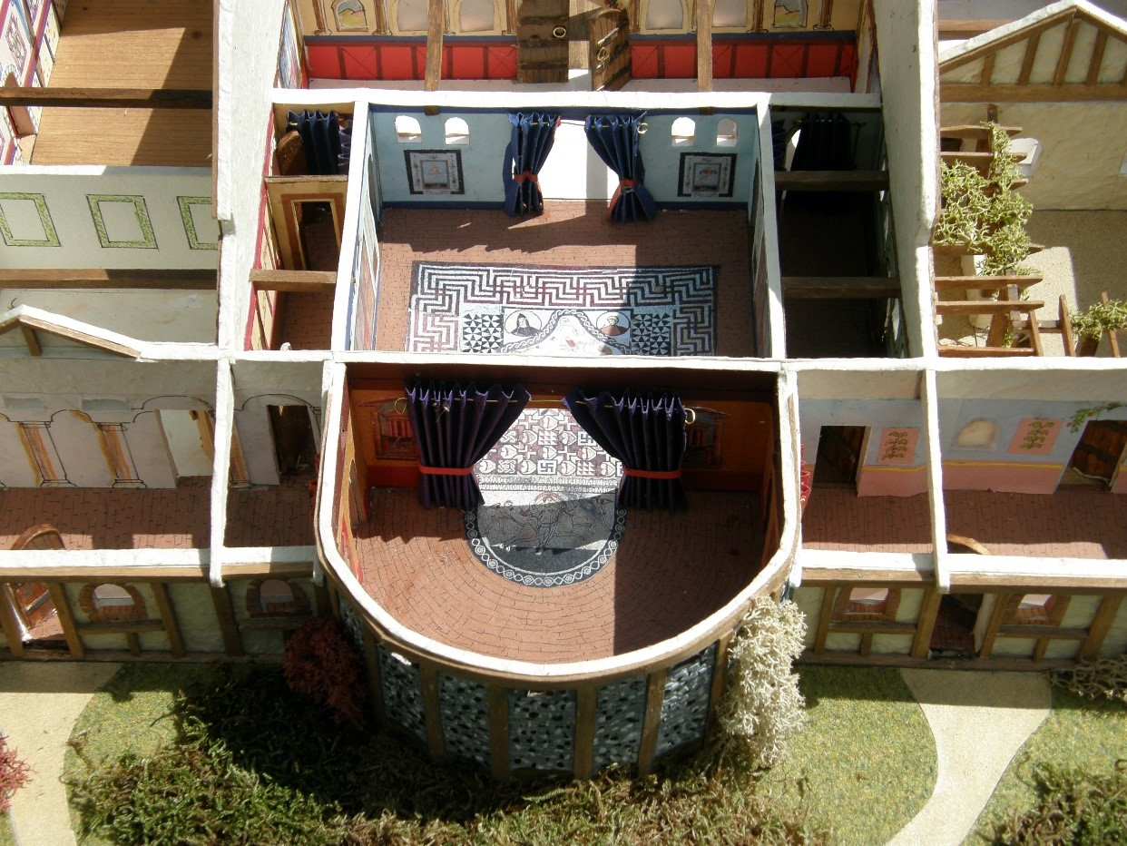17 Dining room and audience chamber from scale model of Lullingstone Roman Villa.jpg