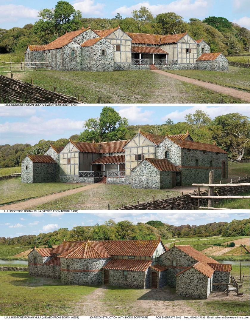 18 3D Reconstructions of Lullingstone Roman Villa
